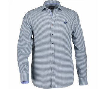 State of Art Shirt printed blauw 214-18137-3157