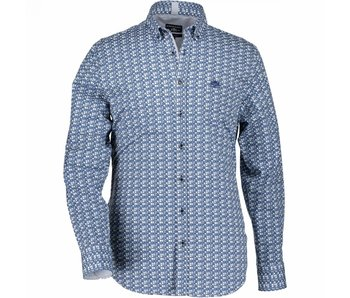 State of Art Shirt printed blauw 214-18147-3957