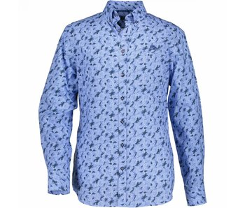 State of Art Shirt printed lichtblauw 214-18210-3911