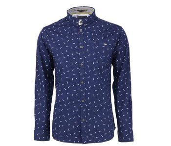 No Excess Shirt allover printed, stret navy 85480202