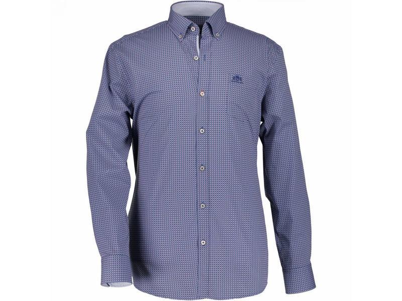 State of Art Shirt l-mouw blauw 214-18150-4757