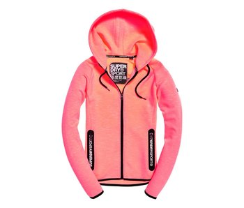 Superdry Sport gym tech luxe ziphood oranje G20013PQ