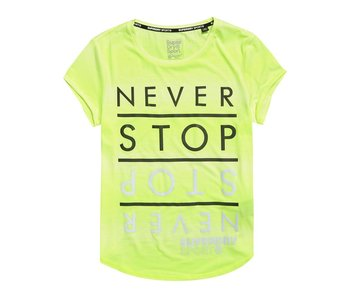 Superdry Sport fitspiration ombre tee geel G60004PQ