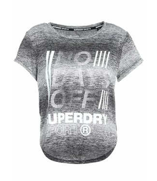 Superdry Sport fitspiration ombre tee grijs G60004PQ