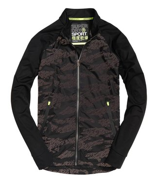 Superdry Training stretch hybrid zwart M20111PQ