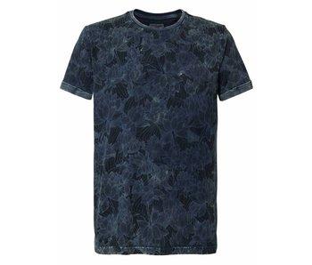 Petrol Industries T-shirt r-neck blauw m-ss18-tsr618