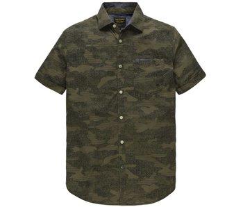 PME Legend Short Sleeve Shirt Poplin Print Martine Olive PSIS183220-6446