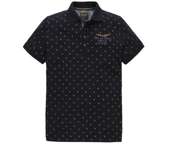 PME Legend Short sleeve polo Fine pique Dark Navy PPSS183858-5110