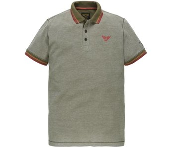 PME Legend Short sleeve polo Two Tone Pique Martine Olive PPSS183857-6446
