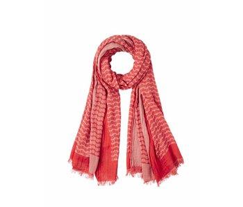 10Days Ikat scarf rood 20-912-8102