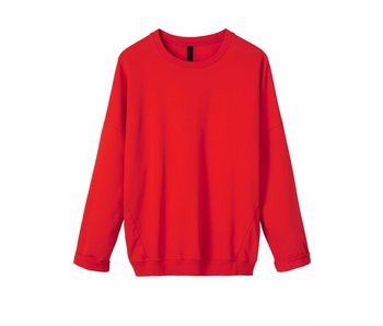 10Days Oversized sweater rood 20-800-8102