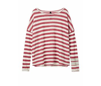 10Days Longsleeve tee stripe off white 20-786-8102