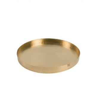 Zusss Schaal metaal goud 50cm