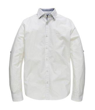 PME Legend Long Sleeve Shirt Stripe Chambrey S: Bright White PSI183240-7003