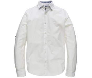 PME Legend Long Sleeve Shirt Stripe Chambrey S: Bright White PSI183240-7003