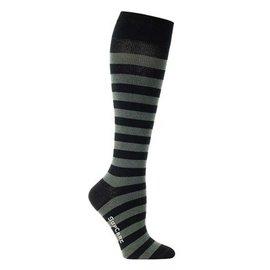 Supcare Gestreepte steunkousen: grijs & zwart