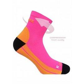 Supcare Compressiesokken sport, oranje-roze