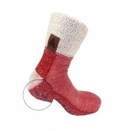 Supcare Buddha Socks, antislip sokken, rood