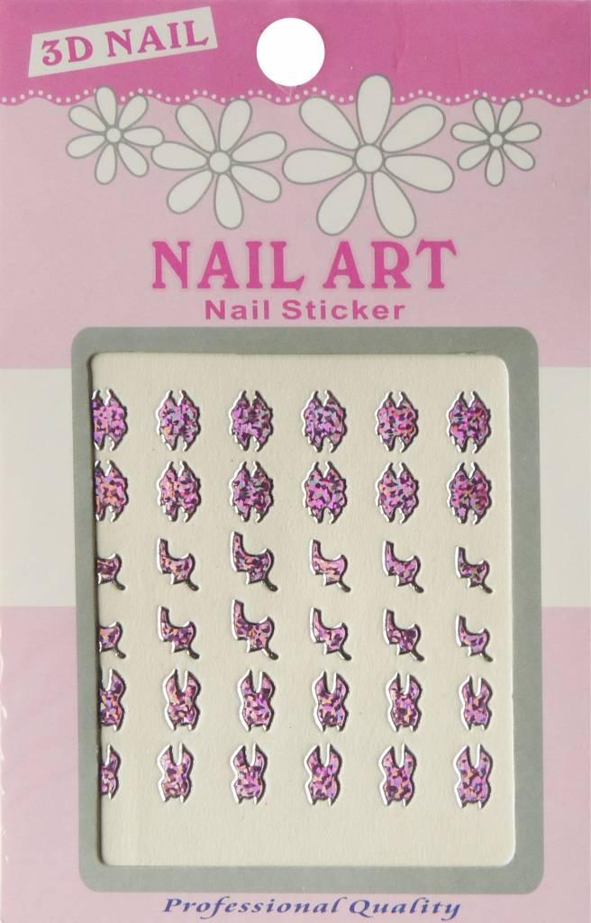 Bell'ure Nail Art Sticker 3D 111