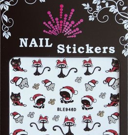 Bell'ure Nail Art Sticker Christmas Cats