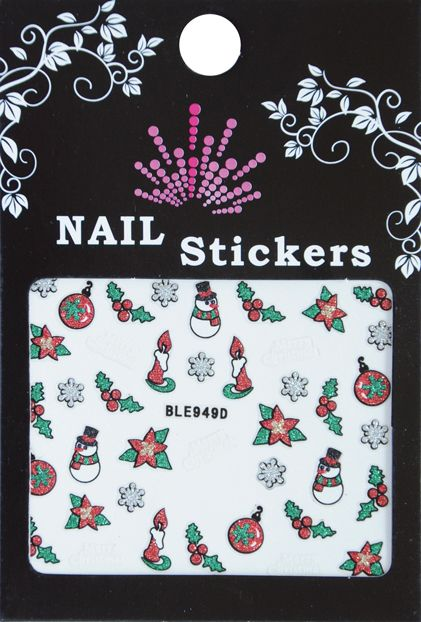 Bell'ure Nail Art Sticker Christmas Tree