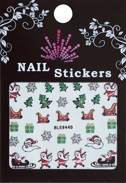 Bell'ure Nail Art Sticker Christmas Santa