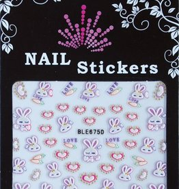 Bell'ure Nail Art Sticker Bunnies & Hearts