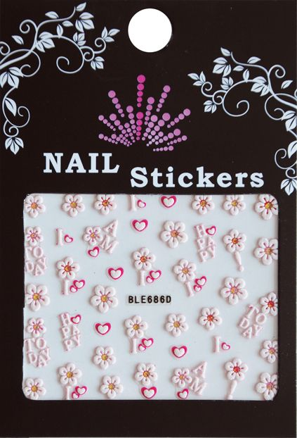 Bell'ure Nail Art Sticker I Am Happy Today
