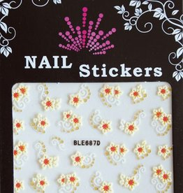 Bell'ure Nail Art Sticker Yellow Flowers