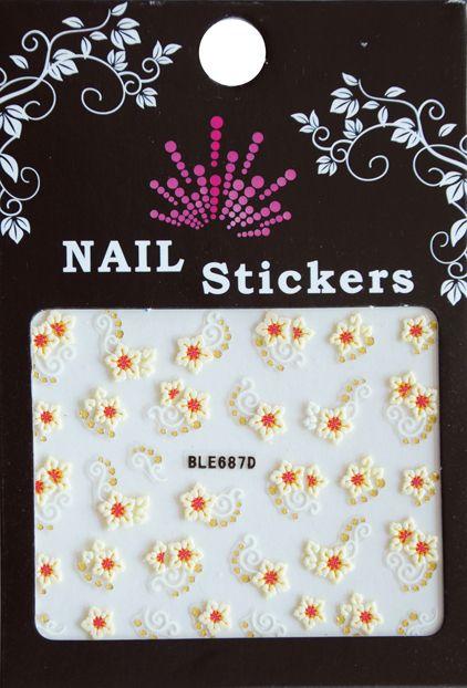 Bell'ure Nail Art Sticker Yellow Flowers