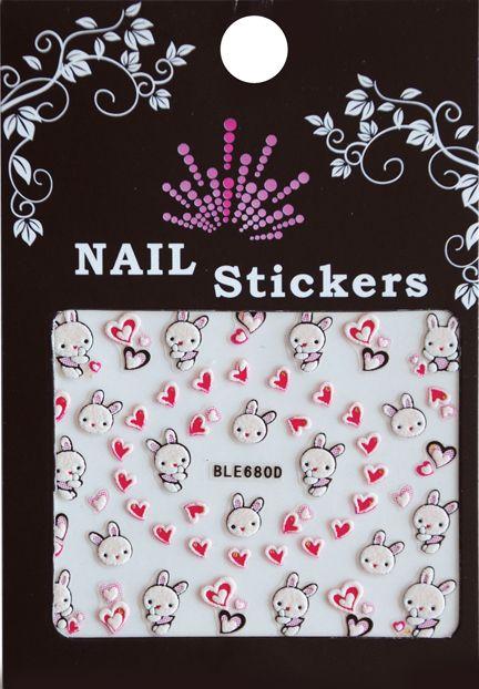 Bell'ure Nail Art Sticker Silent Bunny