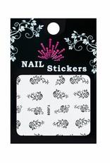Bell'ure Nail Art Sticker Roses Black