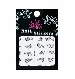 Bell'ure Nail Art Sticker Roses Black