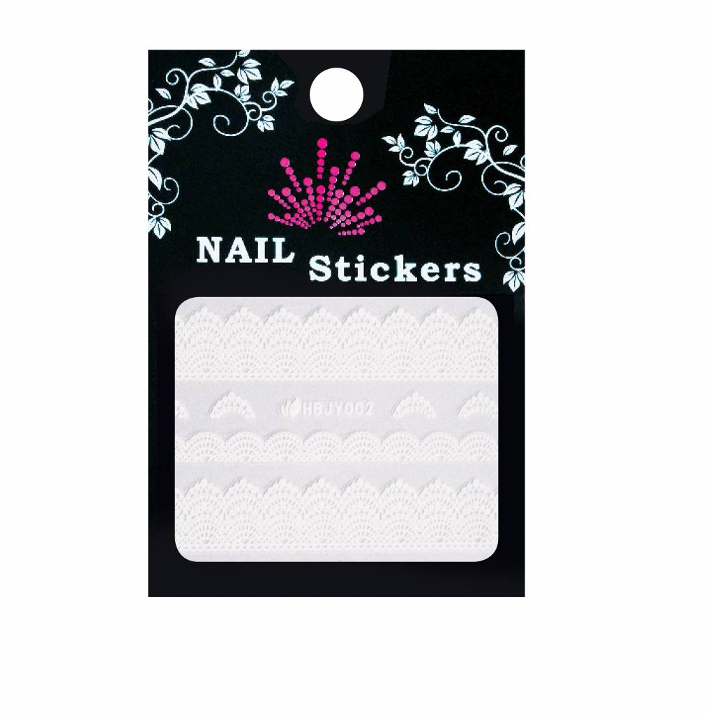 Bell'ure Nail Art Sticker Lace White