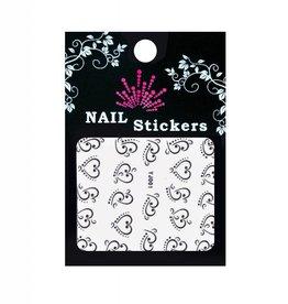 Bell'ure Nail Art Sticker Hearts Black