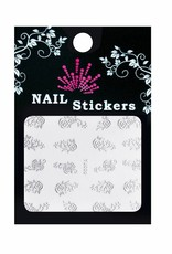 Bell'ure Nail Art Sticker Roses Silver