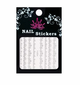Bell'ure Nail Art Sticker Baroque Silver