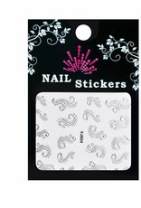 Bell'ure Nail Art Sticker Curls Silver