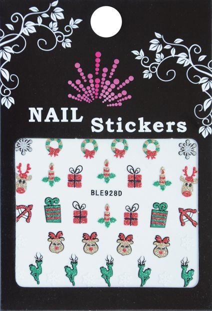 Bell'ure Nail Art Sticker Christmas Reindeer