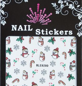 Bell'ure Nail Art Sticker Christmas Snowman
