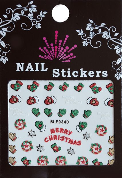 Bell'ure Nail Art Sticker Christmas Merry Christmas