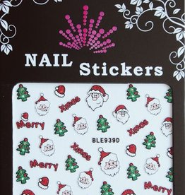 Bell'ure Nail Art Sticker Christmas Santa's Head