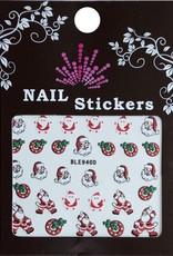 Bell'ure Nail Art Sticker Christmas Santa Claus