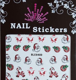 Bell'ure Nail Art Sticker Christmas Santa Claus