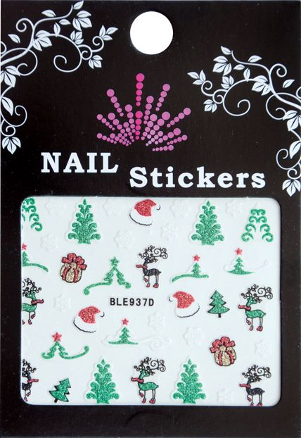 Bell'ure Nail Art Sticker Christmas Trees