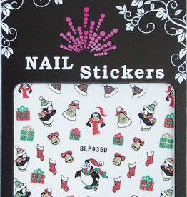 Bell'ure Nail Art Sticker Christmas Penguins