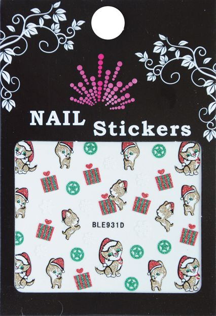 Bell'ure Nail Art Sticker Christmas Gifts & Cats