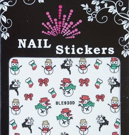 Bell'ure Nail Art Sticker Christmas Snowmen