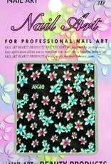 Bell'ure Nail Art Sticker Flowers AK40