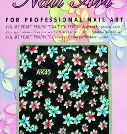 Bell'ure Nail Art Sticker Flowers AK40